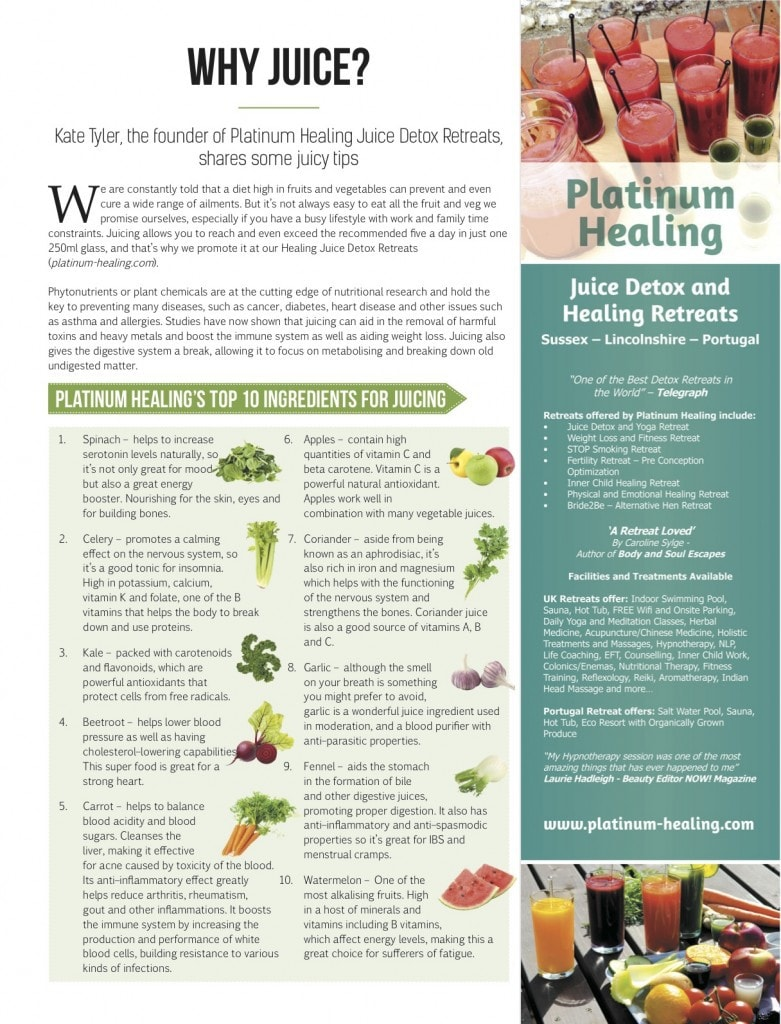 Platinum Healing in Vegan Life Magazine