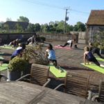 Sun Salutations Outside Sussex Retreat