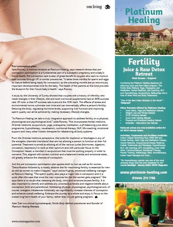 Fertility Retreat in England