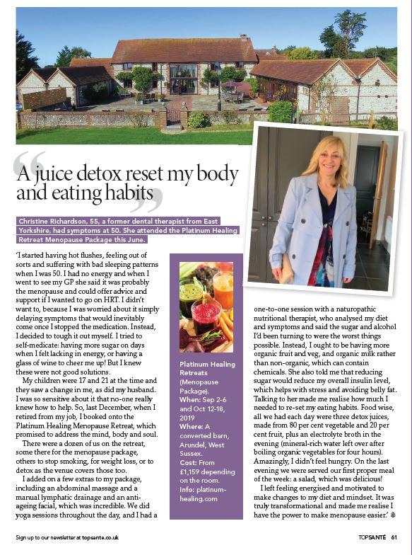 Menopause Retreat England UK